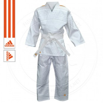 Adidas Judo Gi Evolution II WhiteOrange Stripes - 01