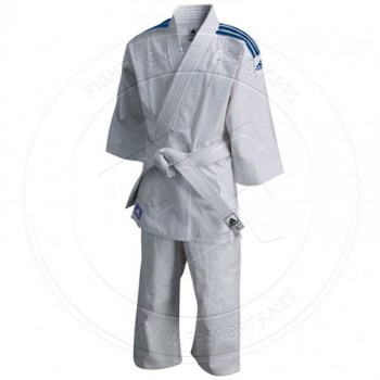 Adidas Judo Gi J200 Evolution WhiteBlue Stripes - 01