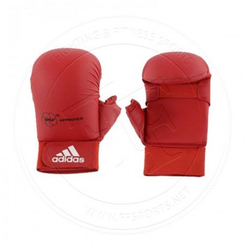 Adidas WKF Karate Glove With Thumb Red-01