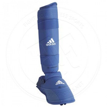Adidas WKF Shin Protector With Removable Base Blue