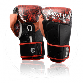 Boxeur De Rues Leather Boxing Gloves Cross Fantasy Red