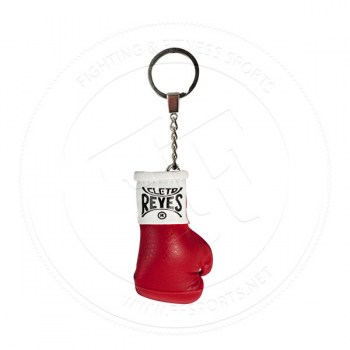Cleto Reyes Leather Mini Glove Key Ring Red