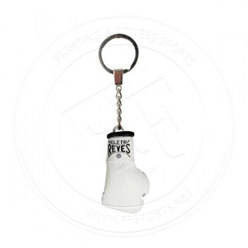 Cleto Reyes Leather Mini Glove Key Ring White