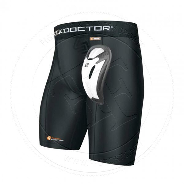 Shock Doctor Core Compression Short with Bioflex Cross Protection Black